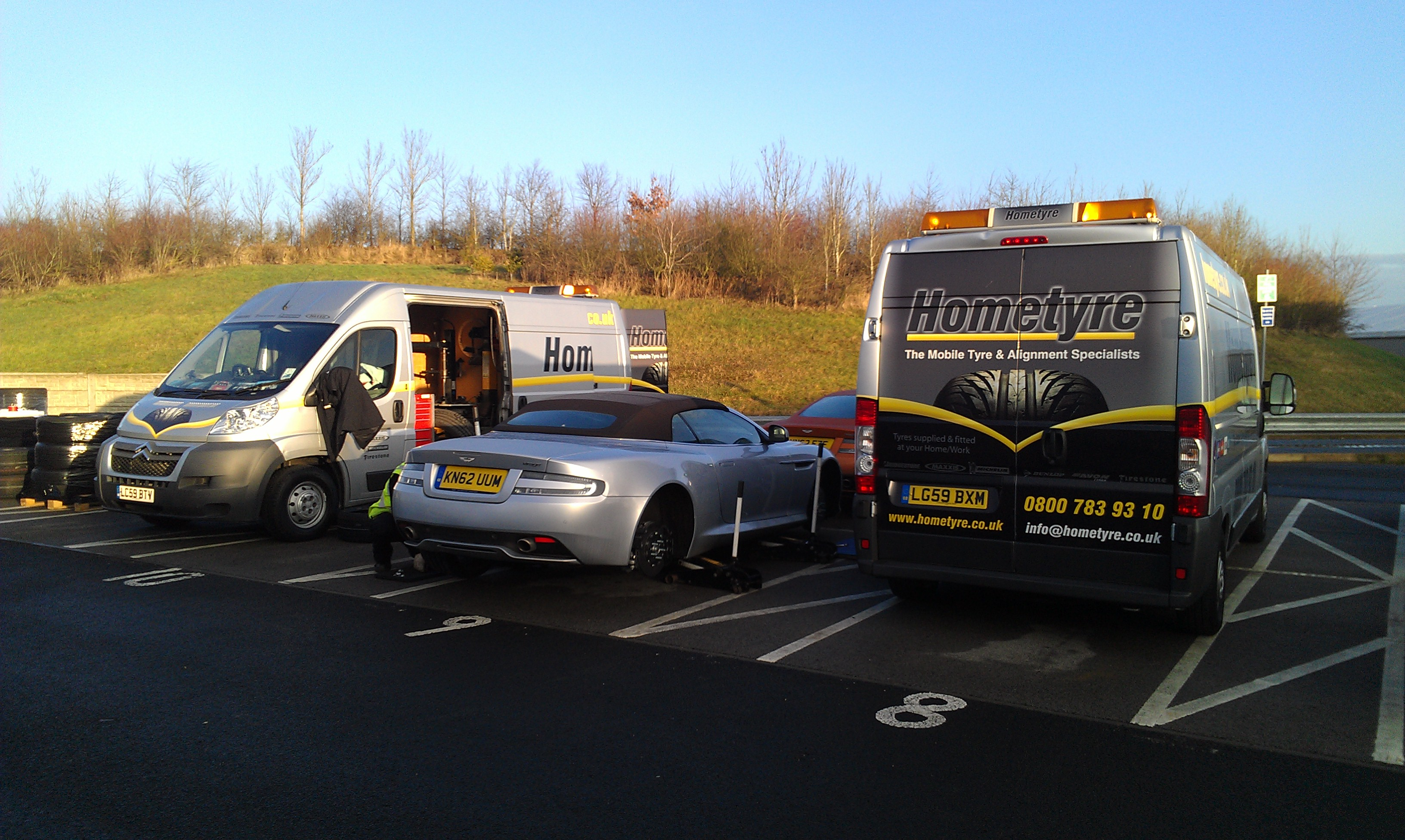 Hometyre_Vans_Fitting_Tyres_to_Aston_Martins