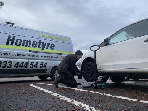 Winter Tyre fitting mobile in Edinburgh